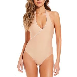 (NWT) Gianni Bini One-Piece Halter Swimsuit